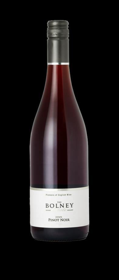 Bottle of English Pinot Noir 2020 vintage from Bolney Wine Estate