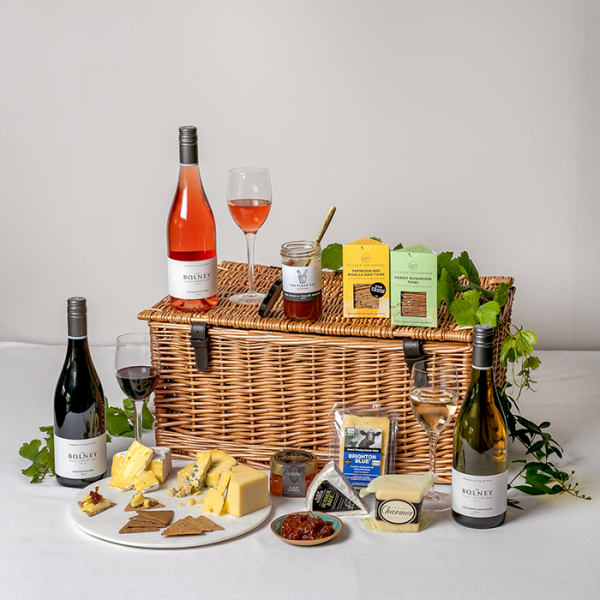 Sussex Cheese and wine hamper - Gift hampers