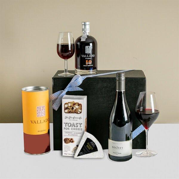 Luxury Port, Wine & Brie Gift Box