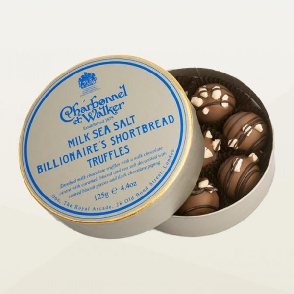 Charbonnel et walker billionaire shortbread truffles in a box