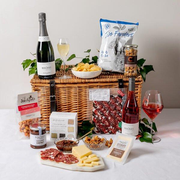 Picnic hamper, cheese & wine hamper, gift hamper