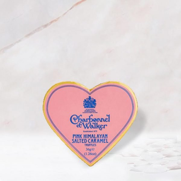 Charbonnel et Walker pink heart truffles, chocolate gift box