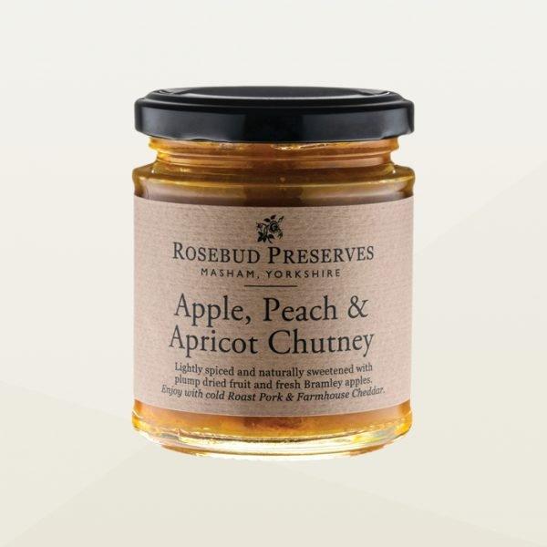 Apple, Peach and Apricot chutney jar