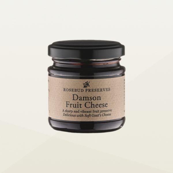Rosebud preserves damson fruit for cheese jar