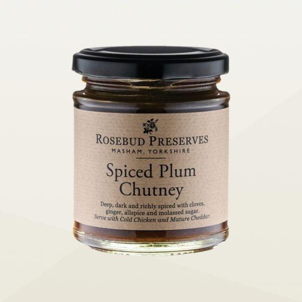 Spiced plum chutney jar